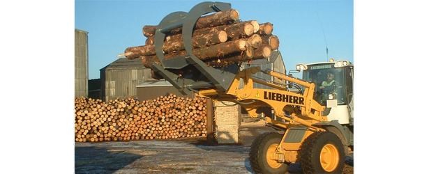 1.6m Log Grab On Liebherr Loader