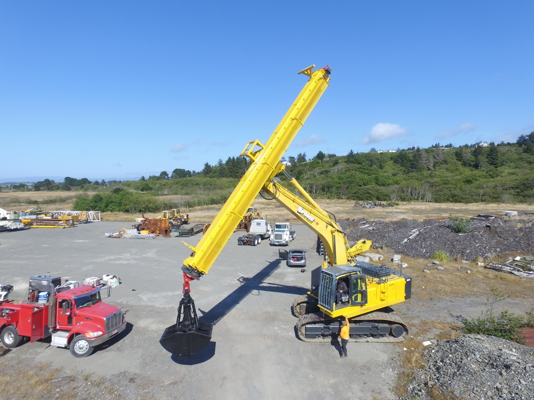 Teledipper Telescopic Clamshell Excavations Deep Dig Shaft Sinking